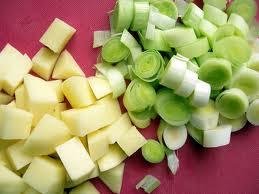 potatoes and leeks